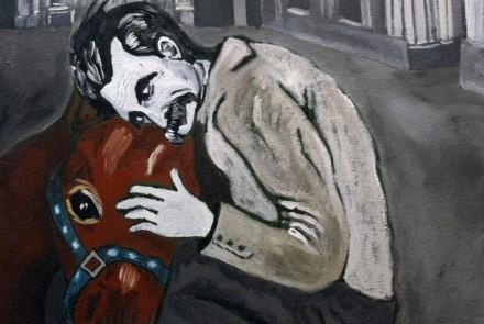 Nietzche y el caballo. 64 x 46 cm. 2016.
